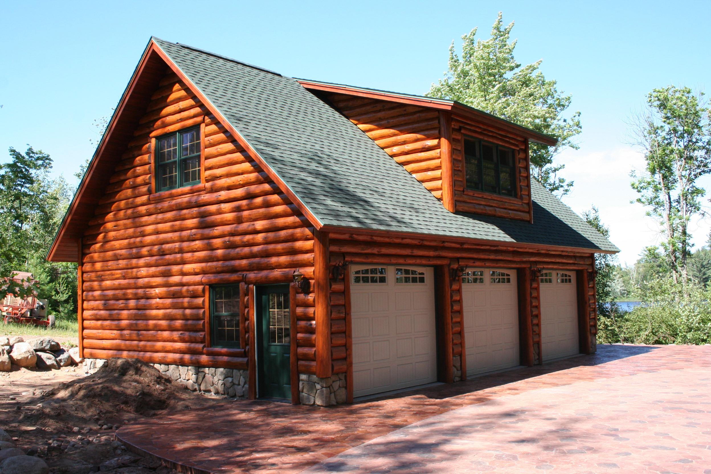 wooden craft amp design garage kits with prices log cabin garage kits log garage